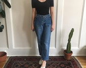 90s high waist jeans - w 30 - relaxed fit straight leg cropped boyfriend jeans