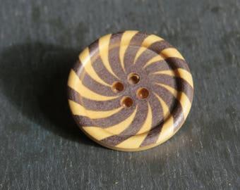 big wooden button brooch