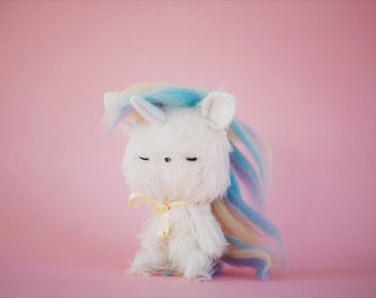 Unicorn little plush - made to order
