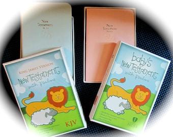 Personalized Baby Bible Keepsake New Testament Engraved Baby Girl Bible Baby Boy Christening  Baby Shower Gift Nursery Gift Baby Dedication