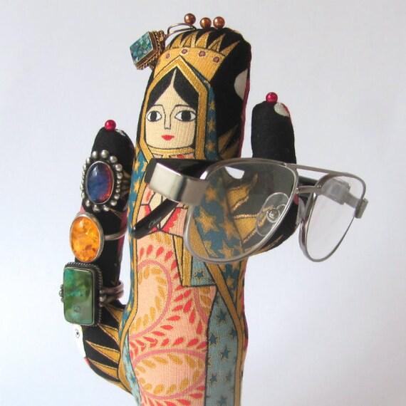 Tall La Virgencita Fabric Jewelry Display Saguaro CACTUS-Stand Ready to Ship