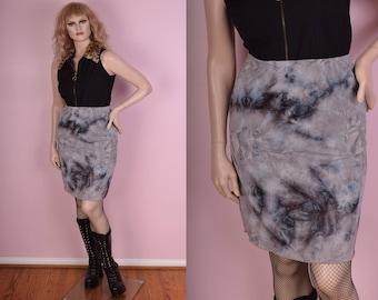 90s Tie Dye Skirt/ 27-30 Waist/ 1990s