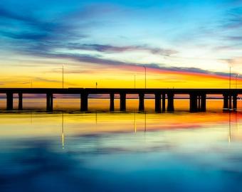 Bay Way Sunset - Fine Art Print - Gulf Coast - Alabama