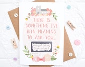 Will you be my Godmother Scratchcard - Godmother card - Godmother proposal - Christening card