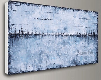 Abstract painting acrylic painting art Painting grey large canvas home office interior bedroom decor palette knife modern Oil Fine Art Visi