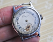 POBEDA 1953 Vintage Soviet wrist watch for parts.Didn't work.