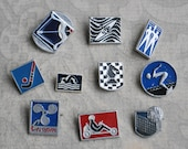 Set of 10 Vintage Soviet Russian SPORT badges,pins.