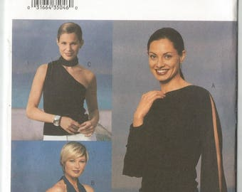 Uncut French Connection Butterick 3521 Easy Top, Halter Pattern  Size 6 8 10