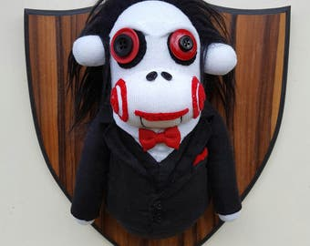 Wall Mounted Billy the Puppet Sock Monkey
