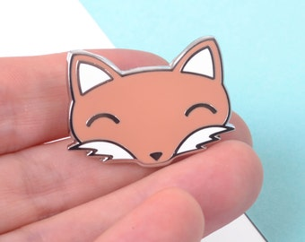 Cute Fox Enamel Pin - Cute Pins - Lapel Pin - Stocking Filler