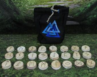 Viking Runes - Valknut - Rune Set - Norse Runes - Elder Futhark Runes - Asatru Runes - Divination Runes - Odin Runes - Gift Runes