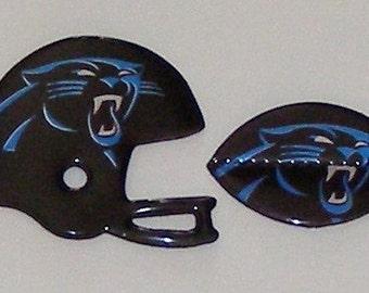 FOOTBALL / HELMET Magnet Set - Carolina Panthers Bud Light Beer Can (Limited Edition)
