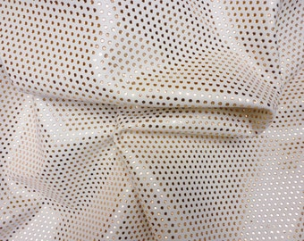 "Leather 8""x10"" Small ROSE GOLD Metallic Polka Dots on White Cowhide 3.5-4 oz / 1.4-1.6 mm PeggySueAlso™ E3090-22"