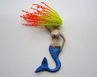 Mermaid wall decor,mermaid art, mermaid wall hanging,mermaid sculpture