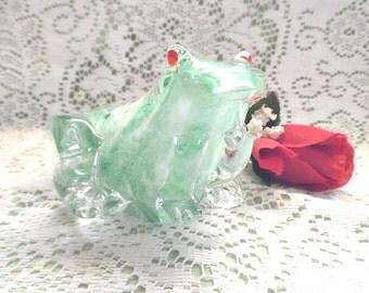Hand Blown Glass Frog