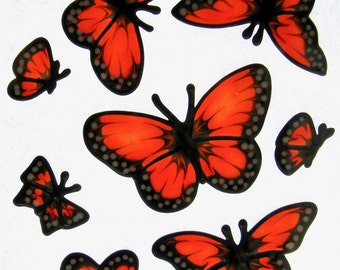 Monarch butterfly set Suncatcher window sticker/decal stained glass style Sunshiner
