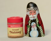 Small Cypress Knee Santa with Snowman
