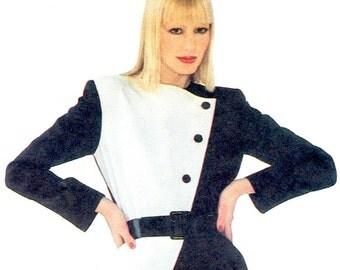 Christian Dior colour blocked skirt suit pattern -- Vogue Paris Original 2470