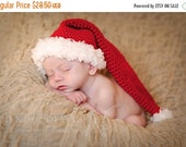 Black Friday Cyber Monday Baby Santa Hat, Christmas Baby Hat, Baby Elf Hat, Baby Photo Prop, Crochet Baby Hat, Newborn Santa Hat, Noel Hat,