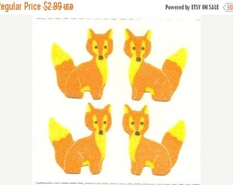 SALE Rare Vintage Great Seven Fuzzy Foxes Stickers - 80's Fox