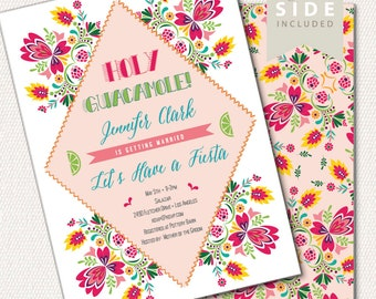Fiesta Bridal Shower Invitation / Holy Guacamole Party / Printable Invite / Mexican Shower / Bridal Brunch / Couples Shower / Wedding Shower