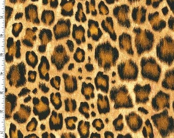FLANNEL - Leopard Print (Amber Kenya) from Michael Miller's Show Your Skin Collection