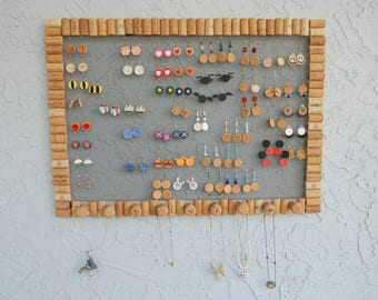 Wine Cork Jewelry Holder Large Great for Earrings and Necklaces