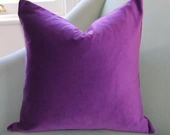 Violet Velvet Pillow Cover.