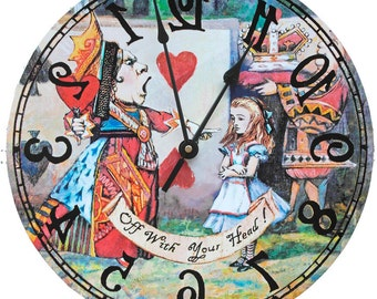Queen of Hearts 15 inch Wall Clock