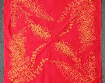 Medicinal Plant Hanky - Red