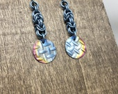 Industrial Anodized Titanium and Niobium Earrings - Ready to Ship