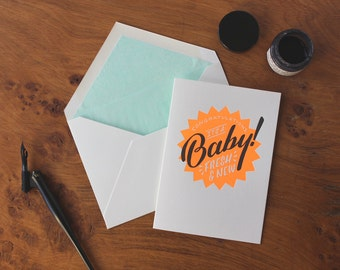 It's a Baby Letterpress New Baby Greetings Card
