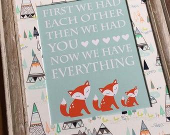 Woodland Nursery Decor, Little Arrow Nursery, Boy Woodland Bedroom Print, Fox Nursery Decor, Arrow Nursery Art, Teepee Nursery Decor