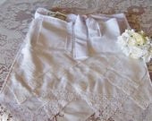 Dollar Dance Wedding Apron Bride's Apron from Vintage Lace Handkerchiefs, Wedding Reception Money Dance, Something Old Gift, Ready to Ship