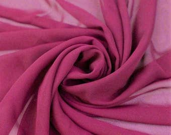 Hi Multi Chiffon Fabric - 10 Yards - Magenta (273)