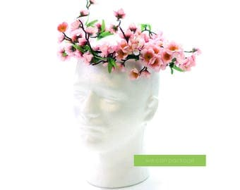 PINK Cherry Blossom Flower Crown | Japanese Wedding Photo Prop