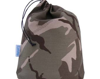 Desert, Sandy Camouflage Drawstring Party Bags