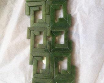 Square Jade Beads