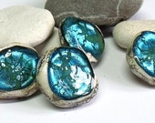 Turquoise Mine, Lampwork Buttons, SRA, UK
