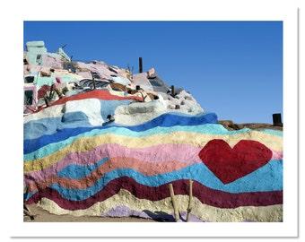 "Salvation Mountain no. 2 Photo Print - Palm Springs, Niland California Road Trip Love Boho Heart Art Print 5x7"", 8x10"", 11x14"", 13x19"""