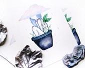 plant girl | WATERCOLOUR PRINT