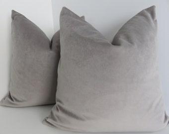 Gray Velvet Pillow Covers- Velvet pillows- Gray Pillow Covers- Luxurious Velvet Pillow Covers- Velvet Pillows- Accent Velvet Pillows