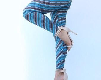 Women Diagonal Print Leggings, Yoga Wear,  Women Leggings, Christmas Gift , Moms Gifts,Post maternity Leggings , Body Shaping Wear
