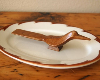 Vintage Sterling Vitrified China Platter Vintage Sterling China Brown Wave Platter Vintage Restaurantware Platter from The Eclectic Interior