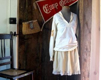 1900s gym costume middy and skirt... Rub 'em ~ Tub 'em ~ Scrub 'em : they come up smiling