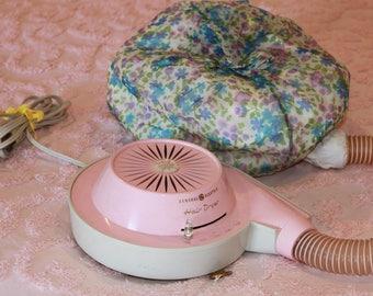 Vintage bonnet style hair dryer vintage hair dryer pink hair dryer