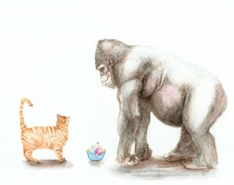 Sharing is Caring Watercolor Prints for Nursery or Home!