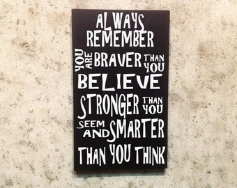 Always Remember Custom Wood Sign Hand Painted Gift For Home Decor Believe