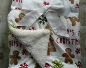 Personalized Baby's 1st Christmas Blanket