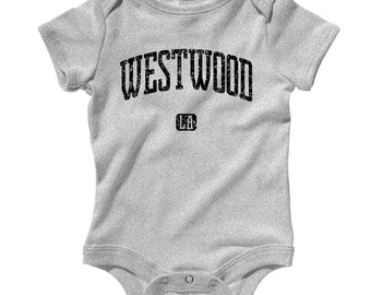 Baby One Piece - Westwood Los Angeles Infant Romper - NB 6m 12m 18m 24m - Baby Shower Gift, Westwood Baby, LA Neighborhood Baby, Village